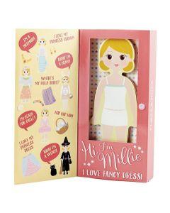 Boneca de Vestir Magnética em Madeira Millie