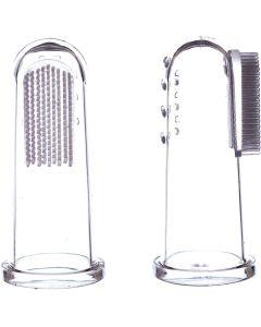 2 escovas dedeira silicone + caixa de transporte