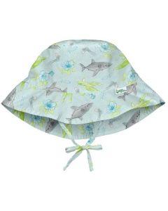 Chapéu com Proteção Solar 50+ All Day Light Aqua Shark Sealife