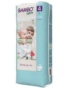 48 Fraldas Descartáveis Ecológicas Bambo Nature 4 Maxi | 7-14 Kg