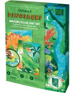 Kit de Arte Aguarela | Dinossauros