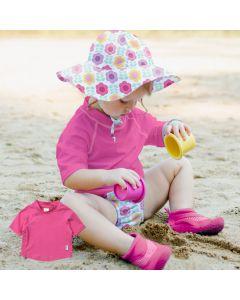 T-shirt Praia e Piscina com proteção Solar 50+ Rosa