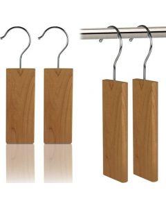 Pack 2 Cabides de Cedro Repelente de Traças para Armário
