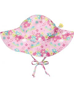 Chapéu com Proteção Solar 50+ com Aba Larga Dragonfly Floral