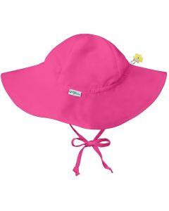 Chapéu com Proteção Solar 50+ com Aba Larga Hot Pink