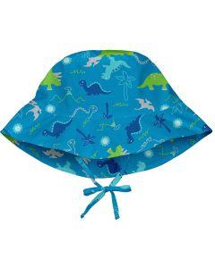 Chapéu com Proteção Solar 50+ All Day Aqua Dinosaurs