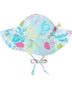 Chapéu Com Proteção Solar 50+ de Aba Larga | Coral Reef