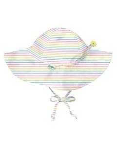 Chapéu Com Proteção Solar 50+ de Aba Larga | Rainbow Stripes