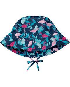 Chapéu com Proteção Solar Navy Flamingos
