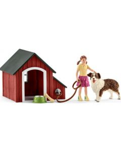 Conjunto Menina, Casota e Cão