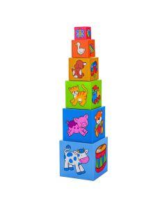 Caixas de Empilhar Animais e Frutas