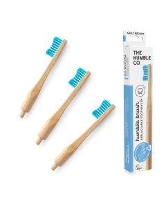 Escova de Dentes em Bambu e 3 cabeças de Cerdas Substituíveis
