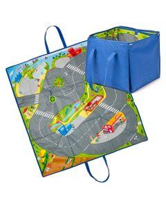 Caixa Tapete Com Estradas 2 em 1