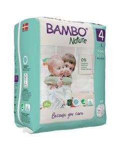 24 Fraldas Descartáveis Ecológicas Bambo Nature 4 Maxi |7-14 Kg