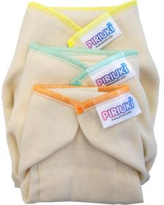 Pack 6 Fraldas Pré Dobradas Piriuki Recém Nascido |1,8Kg aos 4Kg