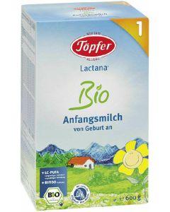 Leite para lactentes biológico 1 Töpfer