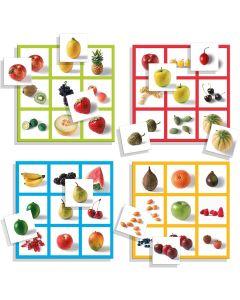 Jogo do Loto com Imagens Reais de Frutas