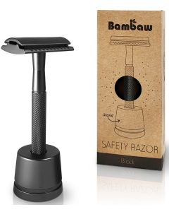 Máquina de Barbear em Metal Black com base