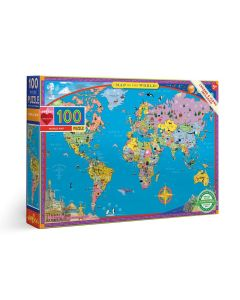 Puzzle Mapa Mundo   100 Peças