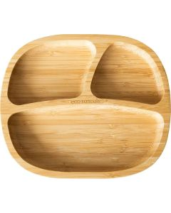Prato com Divisórias em Bambú