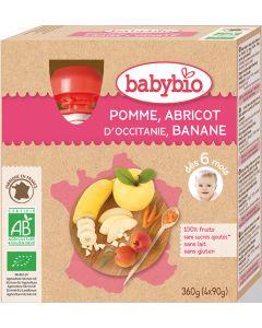 Pack 4 Purés de Frutas Bio Maçã, Alperce e Banana