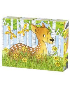 Puzzle Cubo Tradicional | Animais da Floresta