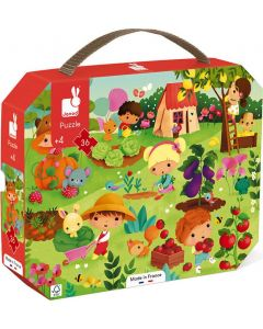 Puzzle 36 Peças com Caixa   o Jardim