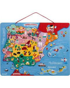 Puzzle em Madeira Magnético Península Ibérica