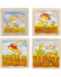 Puzzle em Camadas | Da Semente à Cenoura