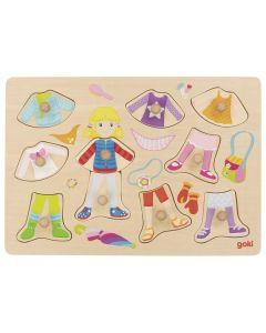 Puzzle de Pegas |Boneca e Roupas