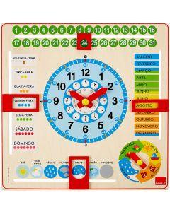 Relógio Calendário em Português