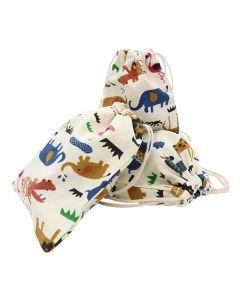 Bolsa em Algodão Animais da Selva