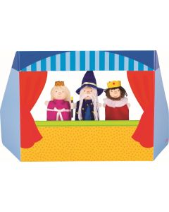 Teatro e 3 Fantoches de Dedo Reis e Feiticeiro