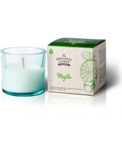 vela ecológica vidro reciclado the greatest candle mojito