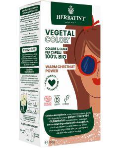 Coloração Capilar Vegetal em Pó com Plantas Ayurvédicas - Warm Chestnut Power