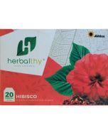20 Saquetas de Chá Natural de Hibisco