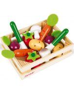 Caixa com 12 Vegetais em Madeira