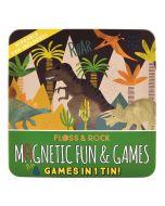 4 Jogos Magnéticos numa Lata   Dinosauros