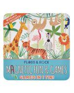 4 Jogos Magnéticos numa Lata   Selva