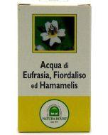 Água de eufrásia, flor de liz e hamamélis