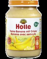 Boião Biológico de Puré de Banana e Semolina