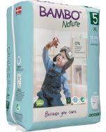 19 Fraldas Descartáveis Ecológicas Treino Bambo Nature  T.5 | 12-18 Kg