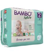 30 Fraldas Descartáveis Ecológicas Bamboo Nature 2 Mini |3-6 Kg
