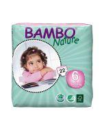 20 Fraldas Descartáveis Ecológicas Bambo Nature 6 XL |16+ Kg
