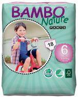 18 Fraldas Descartáveis Ecológicas de Treino Bambo Nature XL | 18 Kg+