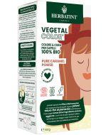 Coloração Capilar Vegetal em Pó com Plantas Ayurvédicas - Pure caramel Power