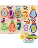Puzzle em Madeira com Números