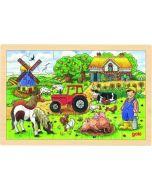 Puzzle de Madeira de 24 Peças   A Quinta do Sr. Millers
