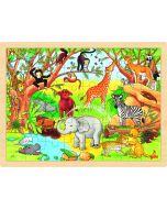 Puzzle de 48 Peças   Na Selva Africana